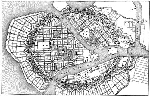 Saint Peterburg master plan 1717 by Leblond